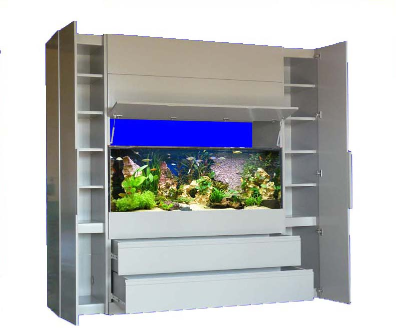 meuble aquarium gris. Black Bedroom Furniture Sets. Home Design Ideas